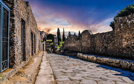 Ancient ruins in Pompeii. Italy Stock Photo
