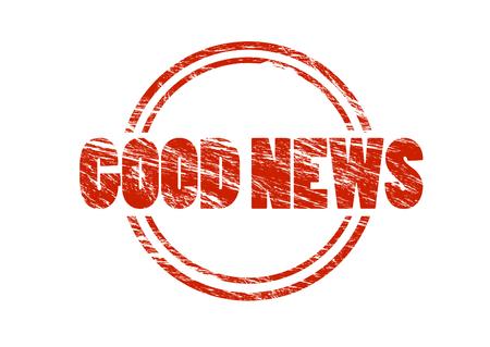good news sign Stockfoto