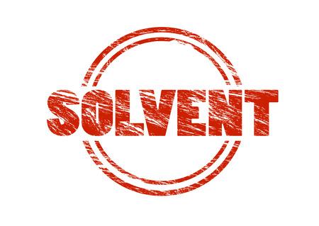 solvent sign Foto de archivo