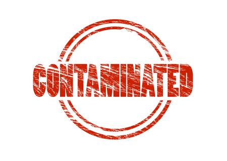 contaminated sign 写真素材