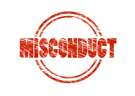 misconduct red vintage stamp isolated on white background Stock Photo