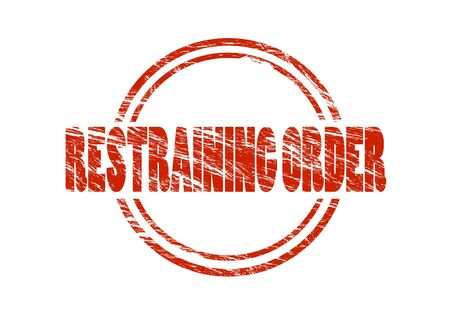 restraining order stamp Stockfoto - 97462058