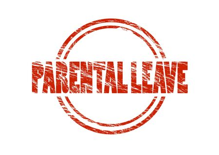 parental leave stamp Stock Photo