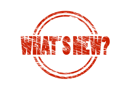 whats new? red vintage rubber stamp isolated on white background