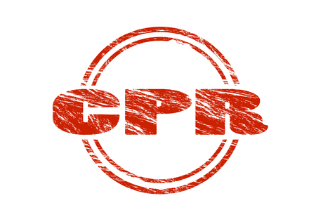 cpr red vintage rubber stamp isolated on white background Stock Photo