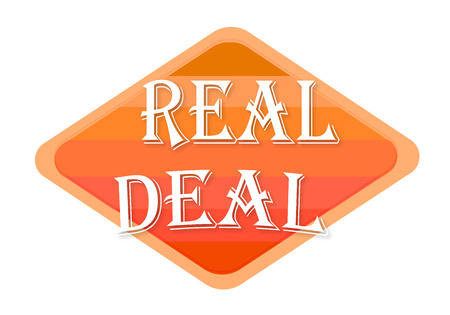 real deal sign isolated on white background Stock fotó