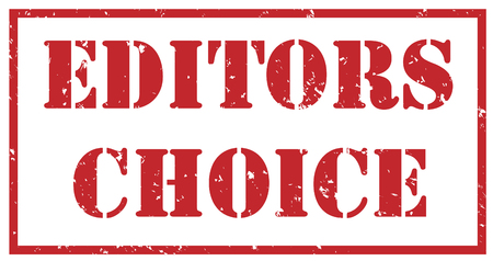 editors choice red stamp on white background