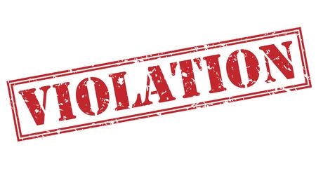violation red stamp on white background