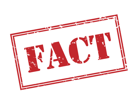fact red stamp on white background Banque d'images - 112523668