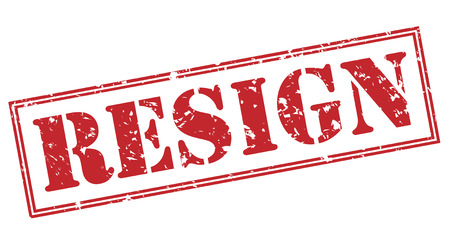resign red stamp on white background Stock Photo