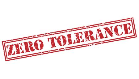zero tolerance red stamp on white background
