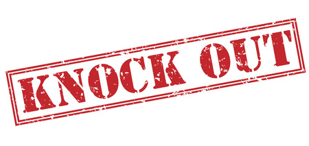 knock out red stamp on white background Фото со стока