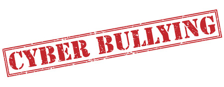 cyber bullying red stamp on white background Stock Photo