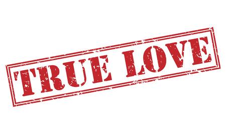 true love red stamp on white background