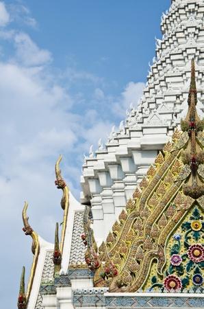 The City Pillar Shrine of Bangkok over the beautiful sky photo