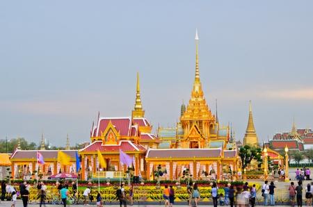 BANGKOK, THAILAND - APRIL 7: The Royal Cremation Ceremony of Prince Bejaratana Rajasuda Sirisobhabannavadi. Members of the Sanam Luang, Bangkok, Thailand. April 7, 2012 Stock Photo - 13575849