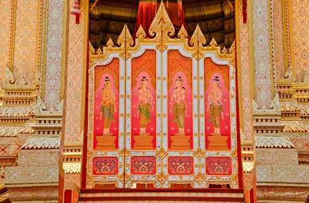 rajasuda: The Door Thai style painting art at the Royal Cremation Ceremony of Prince Bejaratana Rajasuda