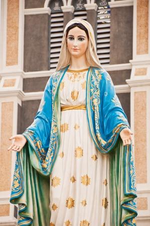virgen maria: Estatua de la Virgen María en Tailandia