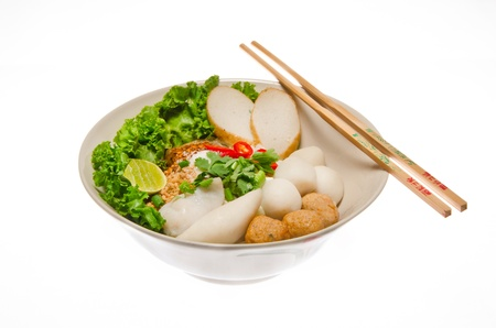 thai noodle: A bowl of Chinese noodle