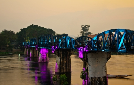 The Bridge of the River Kwai, Kanchanaburi Province, Thailand photo