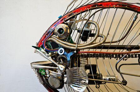 scrap-metal fish made from recycle metal
