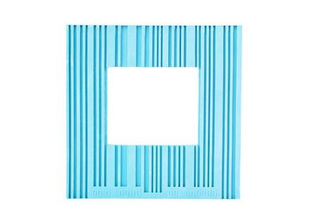 Blue frame isolated on white Stock Photo