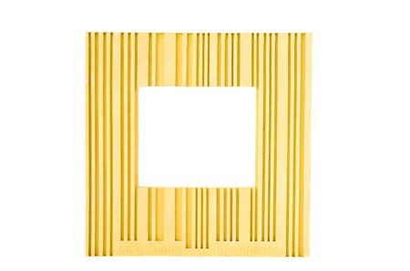 Yellow  frame isolated on white photo