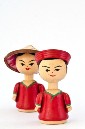 Statuette from Vietnam in the white background Stock Photo