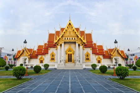 The Marble Temple Wat Benchamabophit , Bangkok, Thailand photo