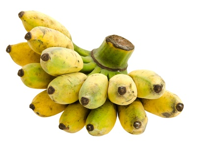 Bunch of cultivated banana isolated on white background, clipping path included Stock Photo