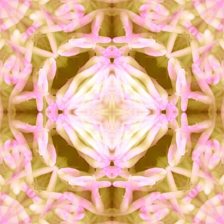 Abstract  seamless square in pink  and yellow