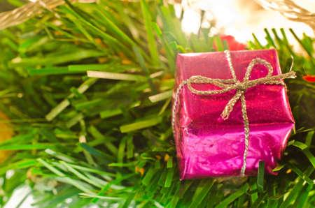 Vintage Christmas gift box decoration