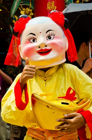 traditon: Chinese new year parade in  chinatown,Thailand Stock Photo