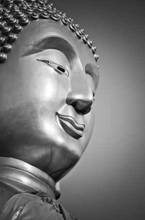 Buddha face, processed with black and white style  Stock Photo - 19662866