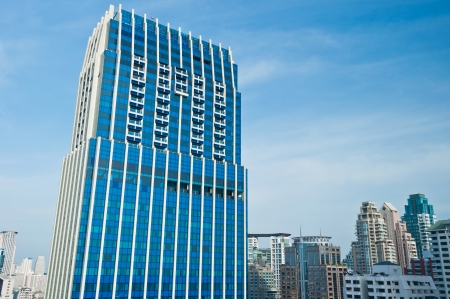 View of buildings in the city of bangkok thailand Stock Photo