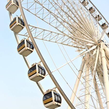 Big ferris wheel against  blue sky