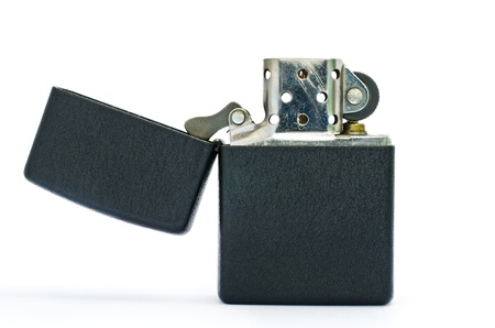 Black lighter isolated on white background
