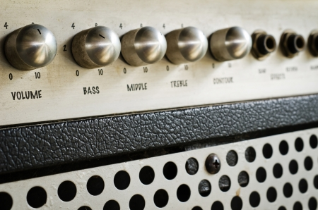 Close-up of guitar amplifier Reklamní fotografie