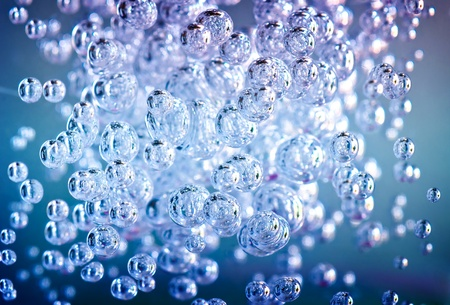 Detail of abstract blue and green bubble, can be used for background Stock Photo