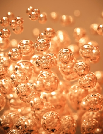 Detail of abstract orange  bubble, can be used for background photo