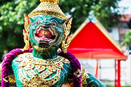 BANGKOK, THAILAND - AUG 14  Particular of the Thai Royal Barge, A royal barge is used by a monarch for processions and transport in a river, on August 14, 2011 in Bangkok, Thailand Editorial