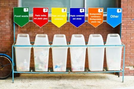 separacion de basura: 6 contenedores de basura para la separaci�n de la basura en la Universidad de Tailandia