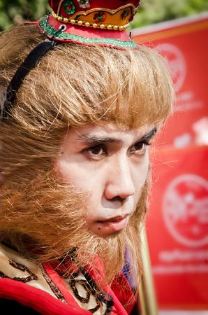 BANGKOK, THAILAND - JANUARY 31  Unidentified people  dress up like Monkey King  in Bangkok