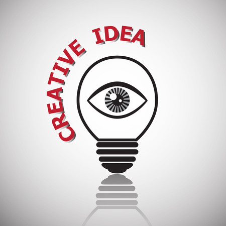 Eye with light bulb icon , idea for business vision and creative concept.  Vector