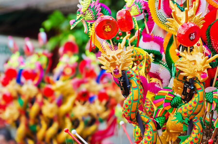 Colorful chinese dragon toy photo