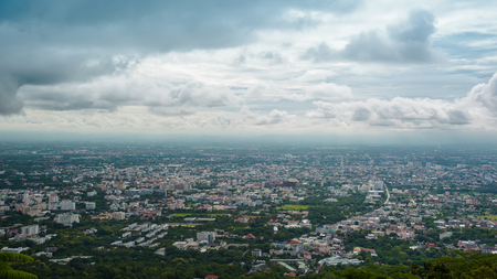 chiang mai  cityscape at view point, Thailand.