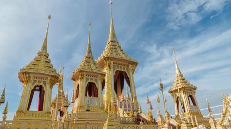 BANGKOK, THAILAND - NOVEMBER 24: The Royal Crematorium of His Majesty King Bhumibol Adulyadej at Sanam Luang, Bangkok , Thailand on November 24, 2017 Editorial