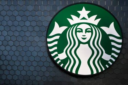 YAMANASHI, JAPAN - MAY 8 : Starbucks exterior logo at Fujikyu Highland amusement park on April 8, 2019 in Tokyo, Japan