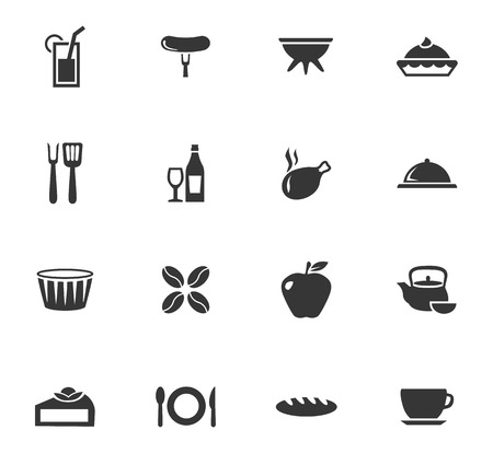 Food icons set and symbols for web user interface