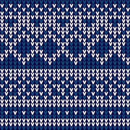 クリスマス セーター設計シームレス編みパターン設計  イラスト・ベクター素材